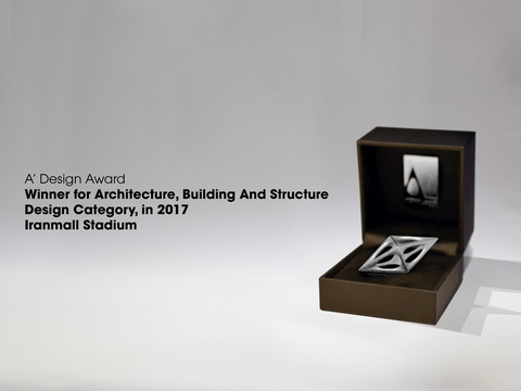 "Silver Winner for Architecture, Building and Structure Design Category, ""Iranmall Stadium"""